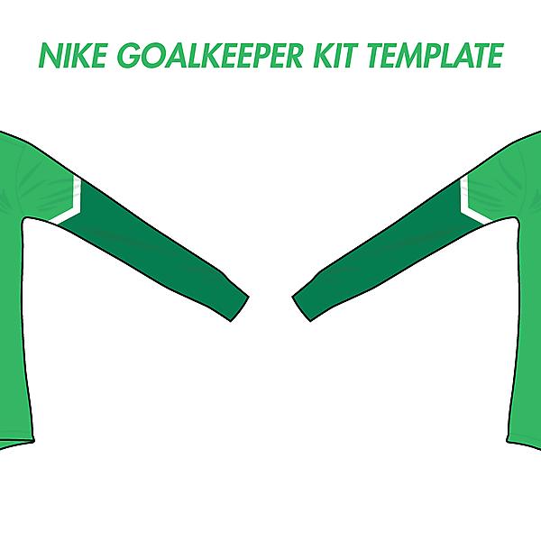 Nike Goalkeeper Kit Template #1