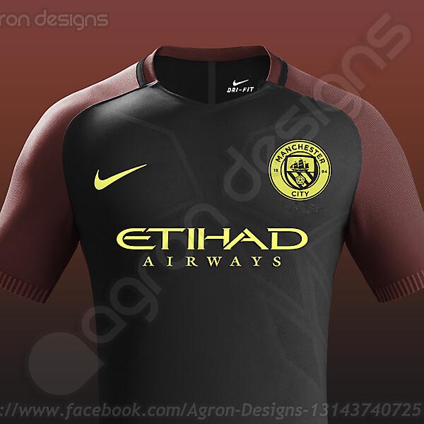 Nike Manchester City Away Kit 2016-17 based on leaked images