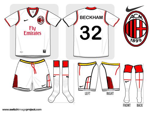 AC Milan Nike Away 2010-2011, new sponsor