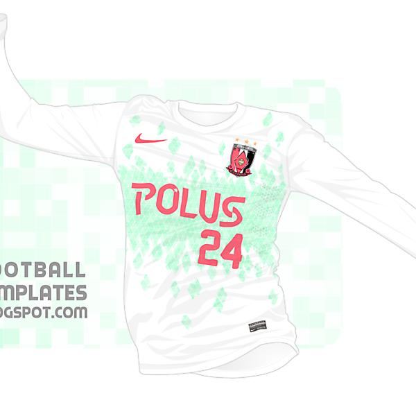 Nike Urawa Red Diamonds Away Shirt : In-Action Version