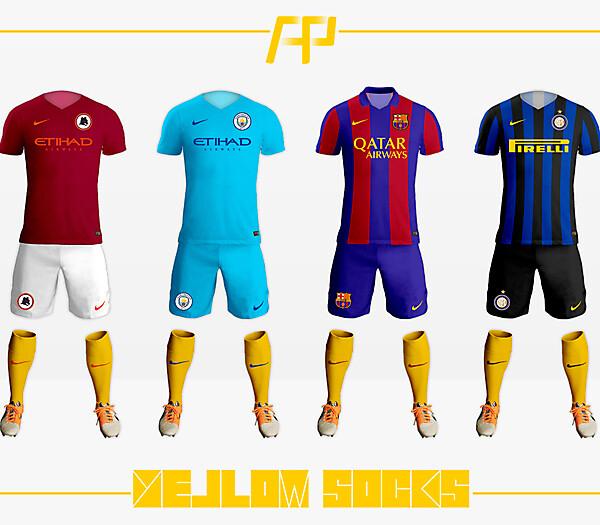 Nike x Yellow Socks 16-17
