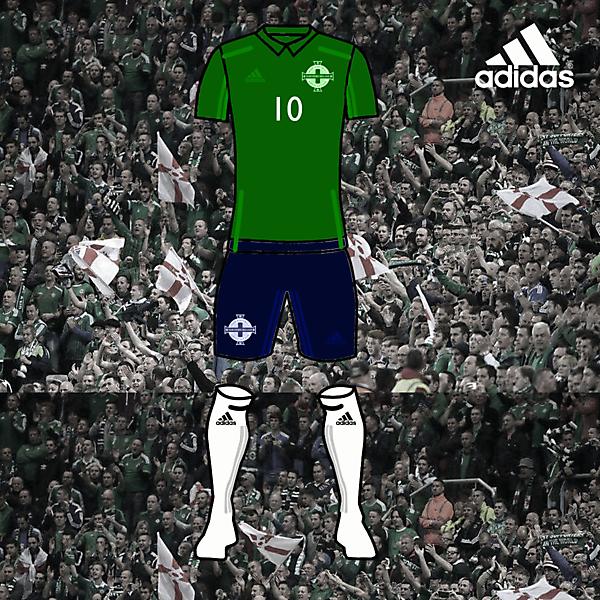 north ireland football home kits 2017