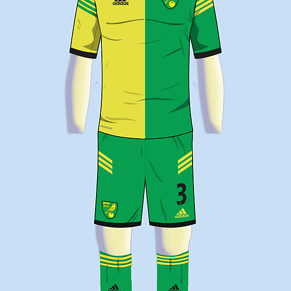 Norwich City - Home kit - Adidas
