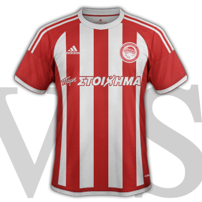 Olympiacos fantasy Home kit for 2015/16 with Adidas
