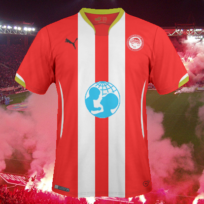 Olympiacos FC Home kit.