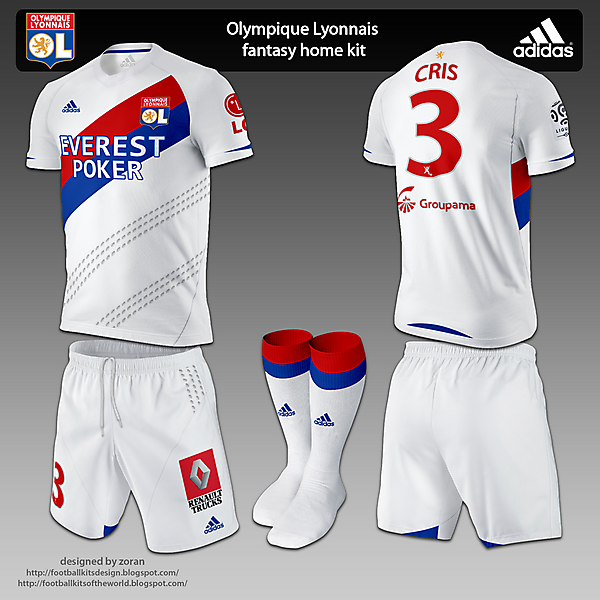 Olympique Lyonnais fantasy kits