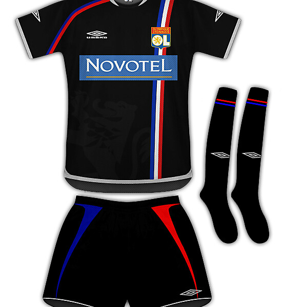 Olympique Lyon champions league kit