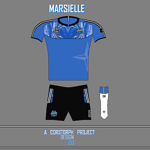 Olympique Marseille adidas With Stone Island Ice Kit