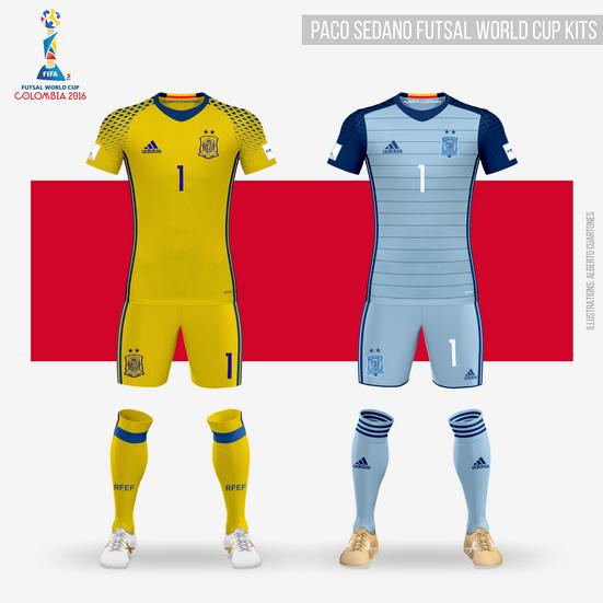 Paco Sedano Futsal World Cup 2016 GK Kits