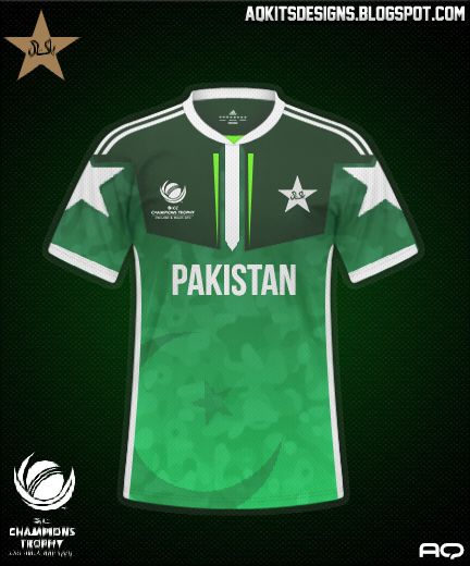 Pakistan Jersey for ICC Champions Trophy 2017