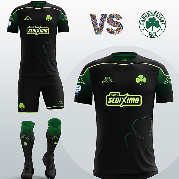 Panathinaikos Away kit with Kappa (Fantasy 19/20)