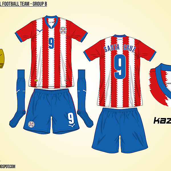 Paraguay Home - Group B, 2015 Copa América