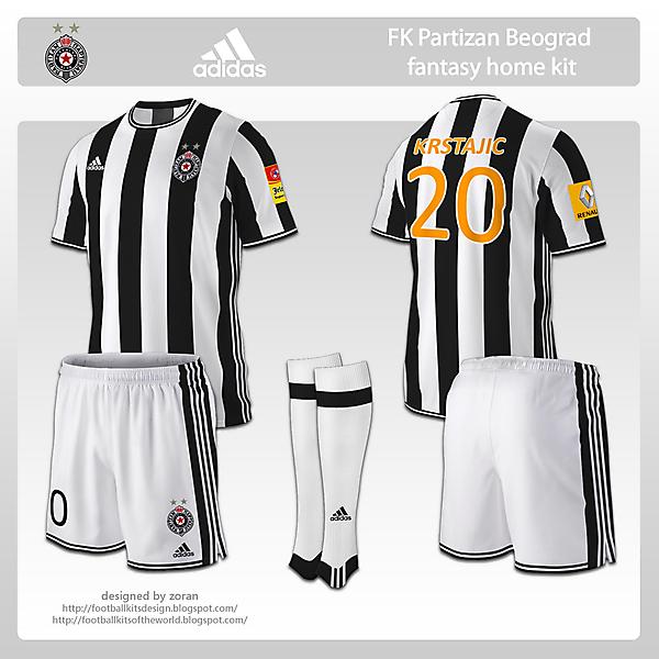 FK Partizan Beograd fantasy home