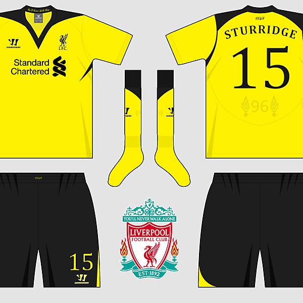 Liverpool Home, Away & Third Kits