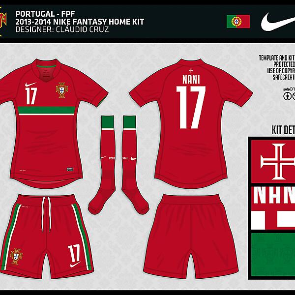 Portugal - 2013/2014 Nike Home Fantasy Kit - by Cláudio Cruz