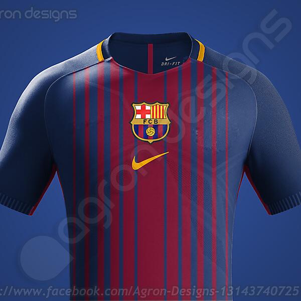 Possible Fc Barcelona 2017-18 Kit Based on Leaked Images