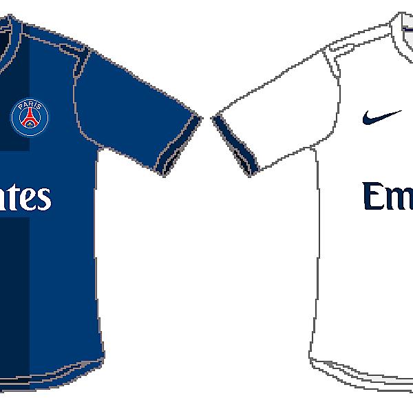 PSG 2014/2015 Home and Away Kits