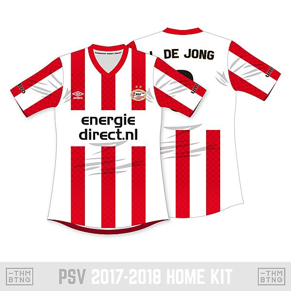PSV 2017-2018 Umbro Home Kit Concept