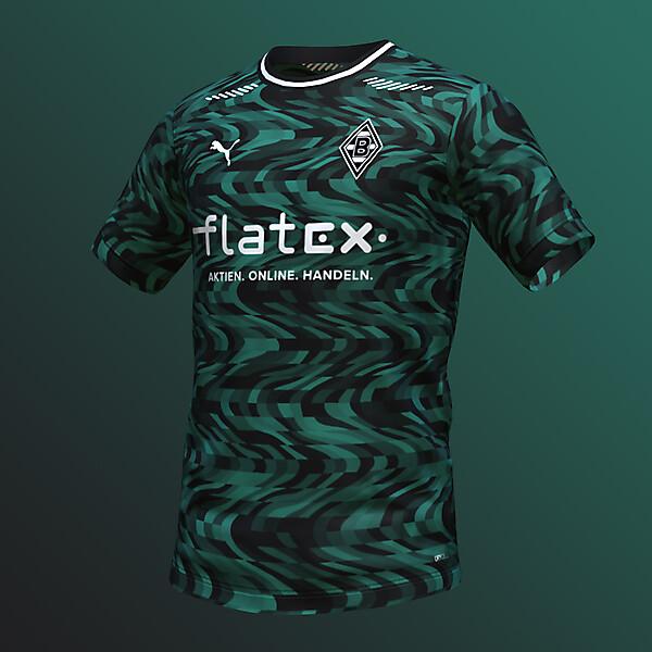 puma Borussia Mönchengladbach Away Shirt Concept (with FC Barcelona pattern)