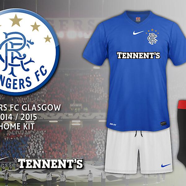 Rangers FC Glasgow 2014-2015 Home