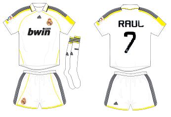 Real Madrid fantasy home shirt