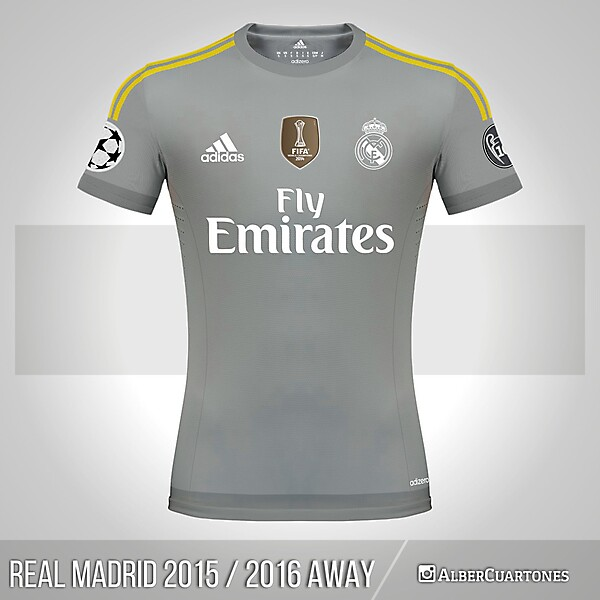 Real Madrid 2015 / 2016 Away Shirt (according to leaks)