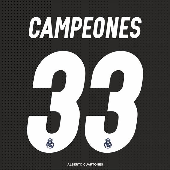 Real Madrid CAMPEONES 33 LaLiga Printing