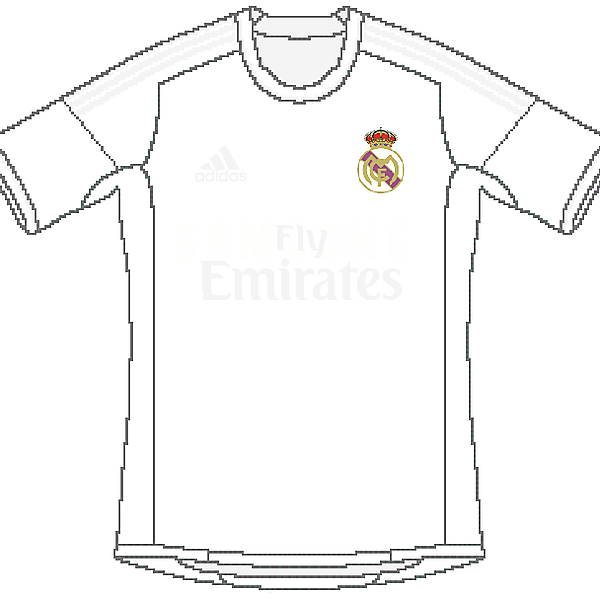 Real Madrid Adidas Home (as it should be)