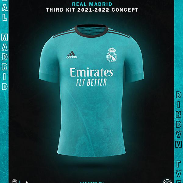 Real Madrid Third Kit Concept 2021-2022