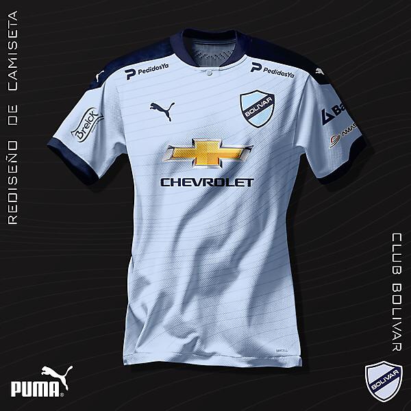 Rediseño de camiseta - Club Bolívar - Puma 2021