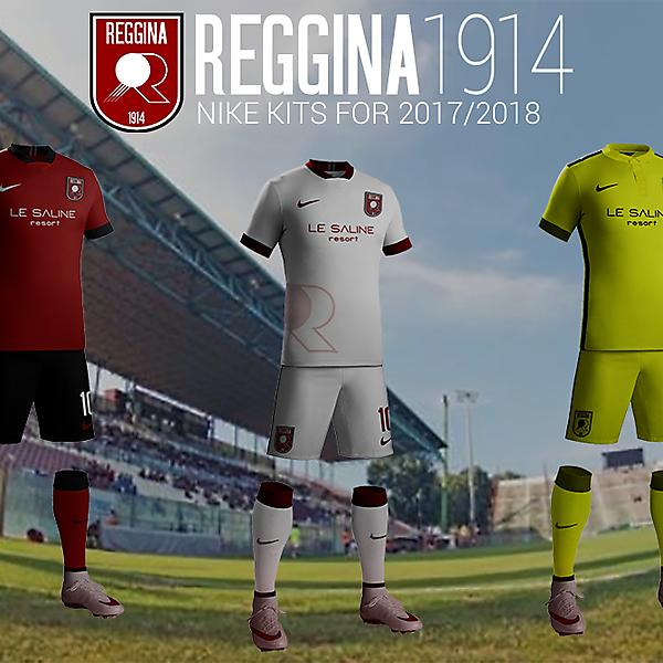 Reggina 1914 Nike kits