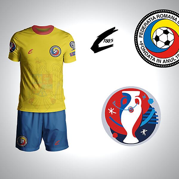 Romania Euro 2016 Home Rebrand