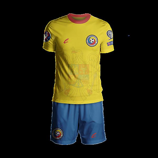 Romania Euro 2016 Home Rebrand Plain
