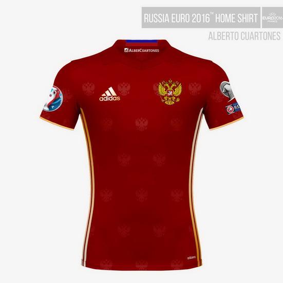 Russia UEFA EURO 2016™ Home Shirt