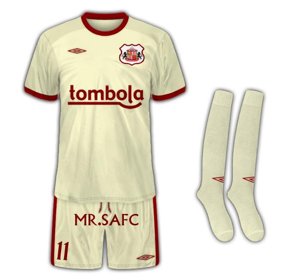 Sunderland AFC Away Kit tailored by umbro