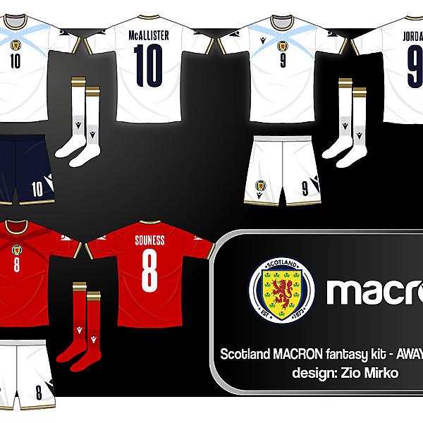 Scotland and Macron, fantasy kit AWAY and 3rd