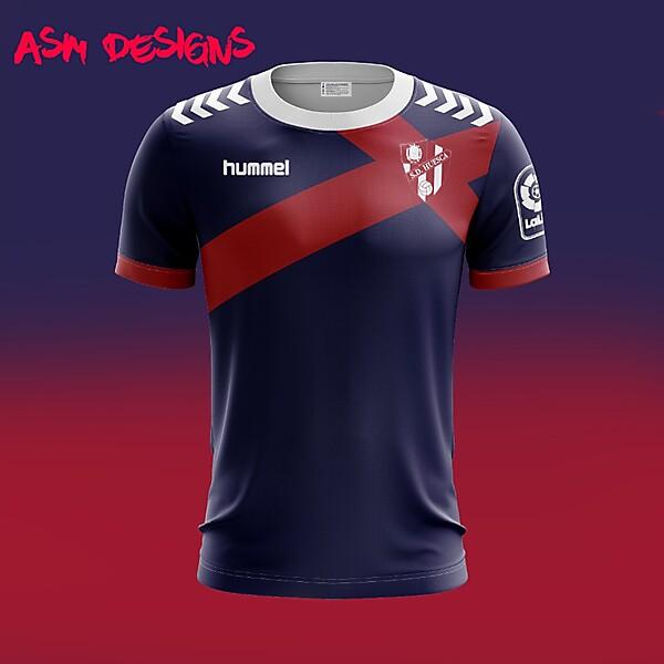SD Huesca Hummel 2018 Home Kit