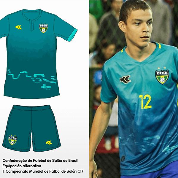 Seleçao Brasileira Futsal. C17 AMF World Cup awy kit