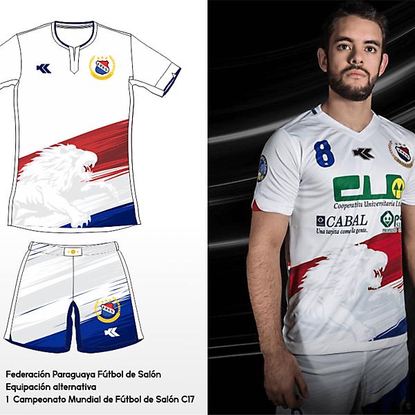 Selección Paraguaya Futsal. C17 AMF World Cup away kit