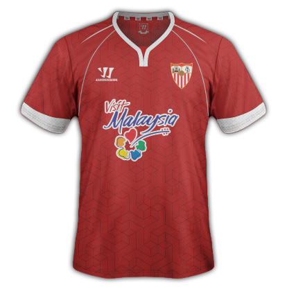 Sevilla Away kit for 2015/16 with Warrior