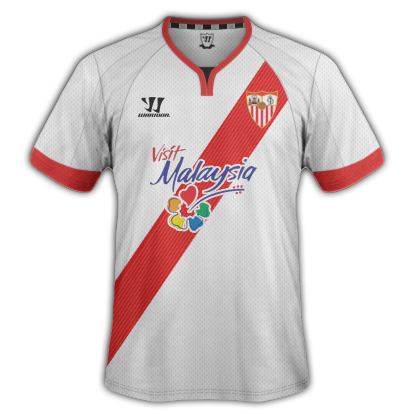 Sevilla Home kit for 2015/16 with Warrior