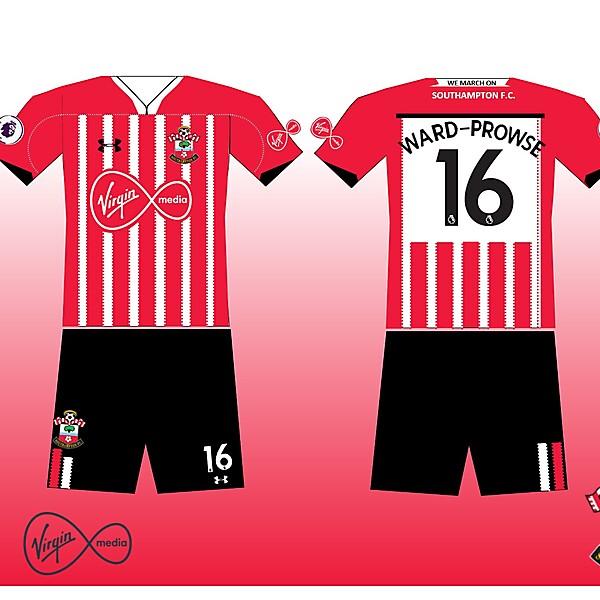 Southampton FC 2018-19 Home kit