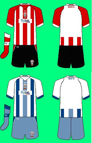 Southampton 2010 Home and Away kits by Wondermaze