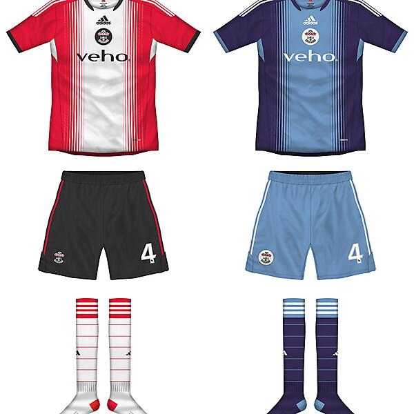 Southampton Home and Away kits