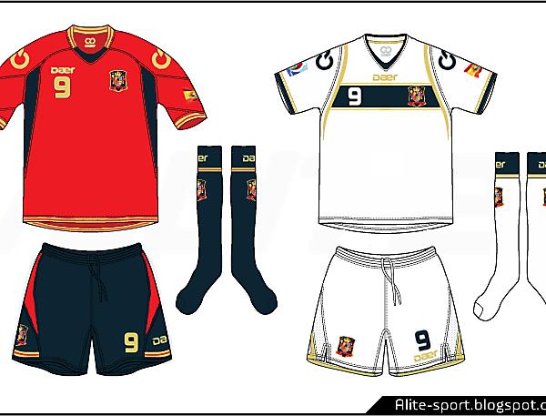 Spain Daer Home & Away Kit