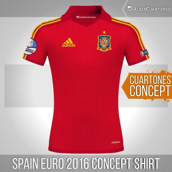 Spain Euro 2016 Concept Shirt