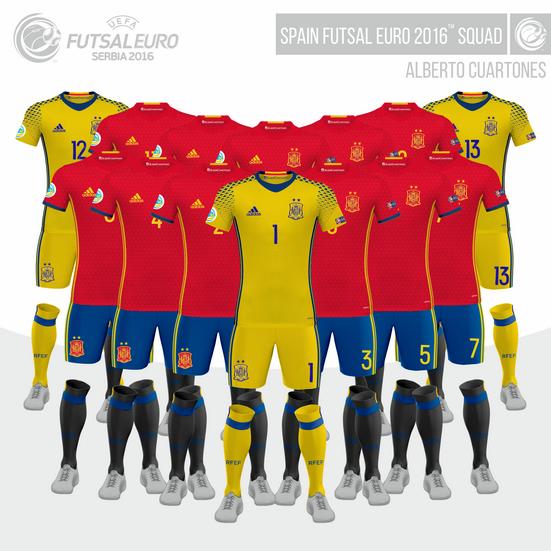 Spain UEFA Futsal EURO 2016™ Squad