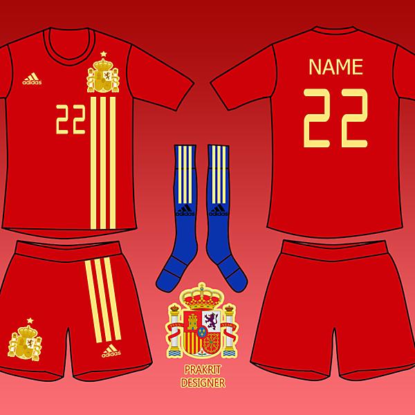 Spain Kits Home 2017