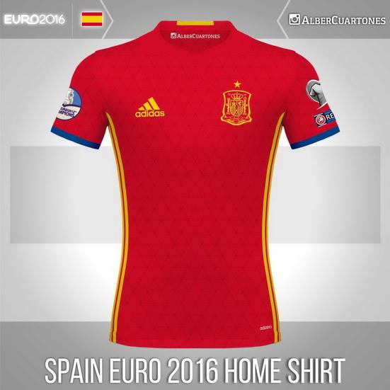 Spain UEFA EURO 2016™ Home Shirt (according to leaks)