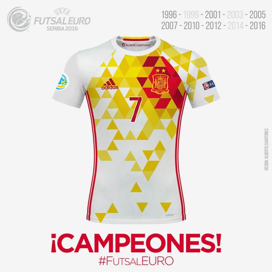Spain UEFA Futsal EURO 2016™ Winner